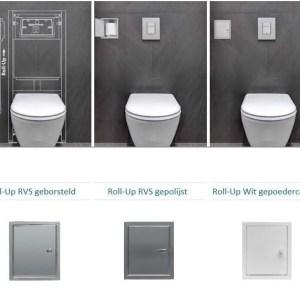 Etsero Roll-up closetrollen dispenser 13.7x77x13.5cm v. maximaal 6 rollen wit