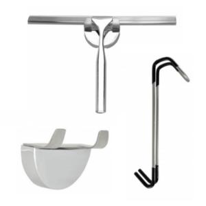 Luxe RVS badkamer wisser 25 cm met ophanging