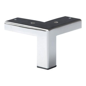 Chromen vierkanten meubelpoot hoogte 7 cm