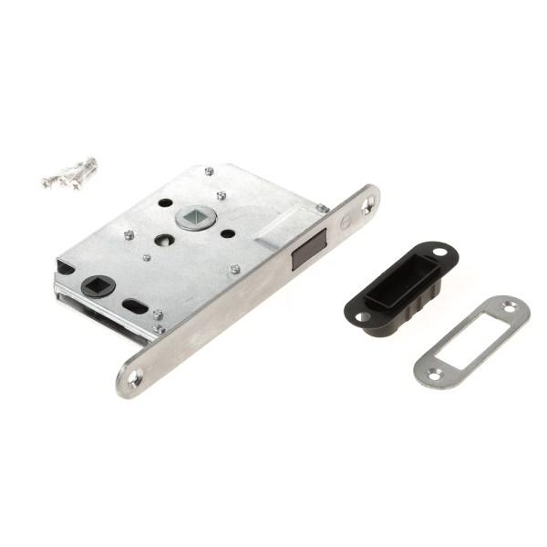 Intersteel magneet woningbouw badkamer/toilet slot 63/8mm met roestvaststaal voorplaat 20X175 mm, inclusief sluitkom