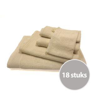 The One basic pakket badtextiel 450 gram Creme - 18 stuks