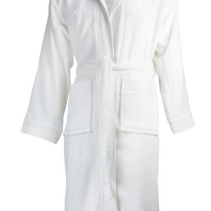 The One Badjas met capuchon 420 gram Wit-XXL/XXXL