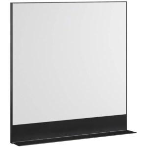 Nancy's Mesa Spiegel - Badkamerspiegel - Badkamer - Spiegels - 140 x 12,2 x 80,5 cm - Zwart - 600 mm