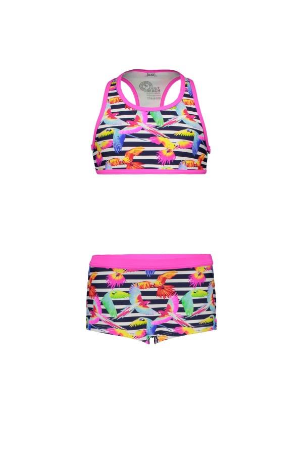 Just Beach Meisjes bikini sportief - Tropical vogels