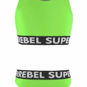 SUPERREBEL Meisjes bikini sportief - Gecko groen