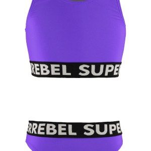 SUPERREBEL Meisjes bikini sportief - Paars fluo