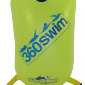 SaferSwimmer™ zwemboei 12 liter 64 x 30 cm PVC groen large