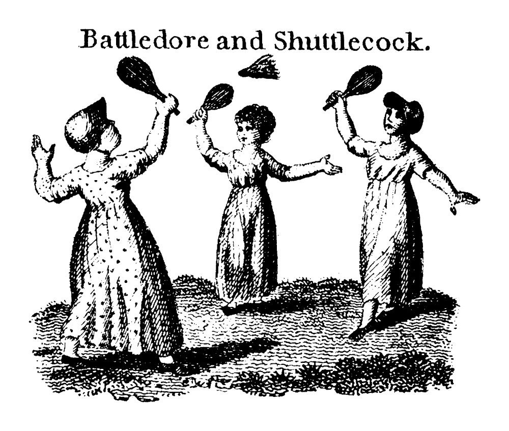 Battledore and Shuttlecock, the child's game that badminton originated from.