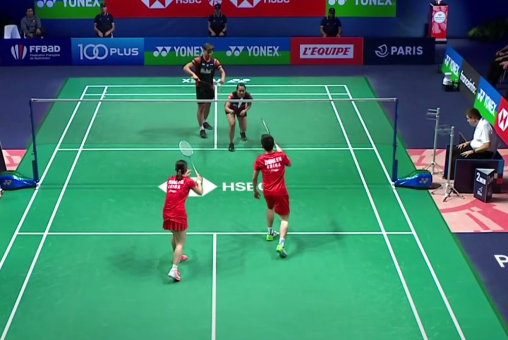 Mixed Doubles Serving Position