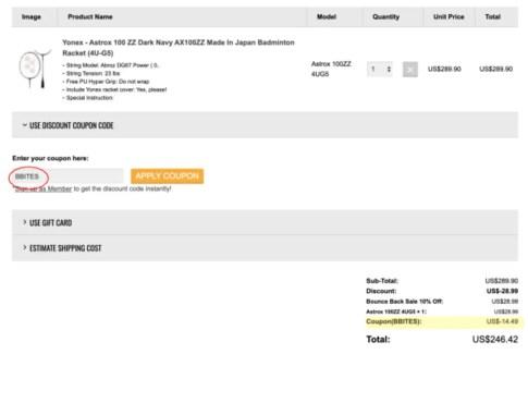 Badminton Bay Discount Code