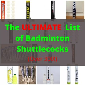 Read more about the article The Ultimate List of Badminton Shuttlecocks (Over 300!)