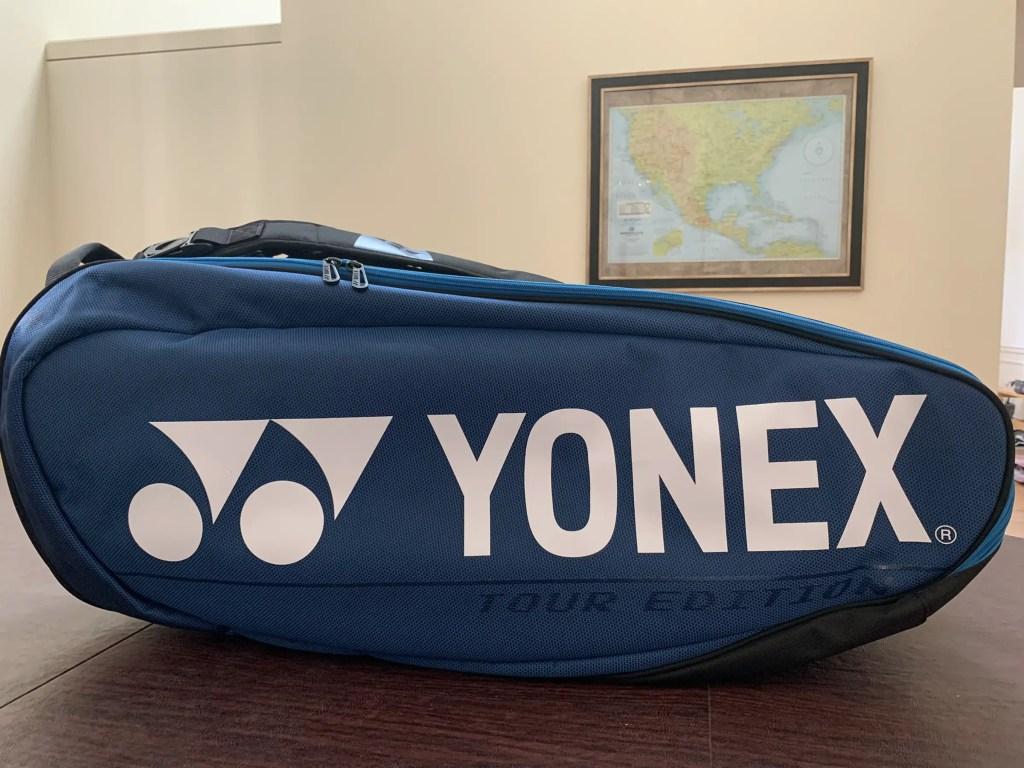 Yonex Pro Racquet Bag (9PCS). Side of the Bag. Eye Level View.