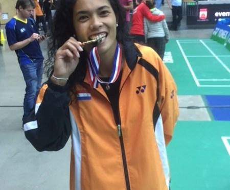 Georgy van Soerland twee keer Europees Kampioen badminton