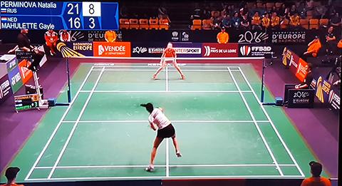 Helaas geen 3e ronde voor Gayle Mahulette op EK badminton