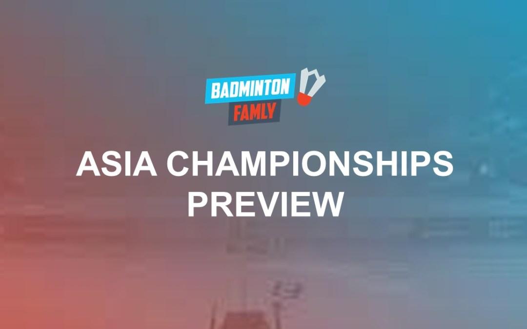 Asia Championships 2019 Draws