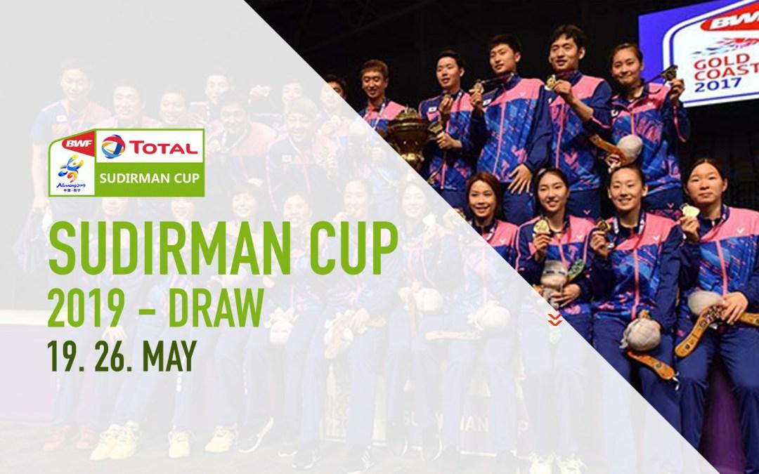 Sudirman Cup 2019 draws
