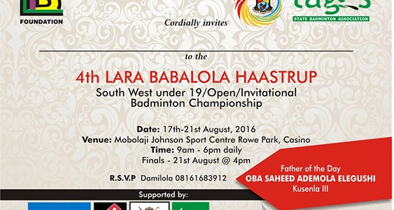 4th Lara Babalola Haastrup Invitational