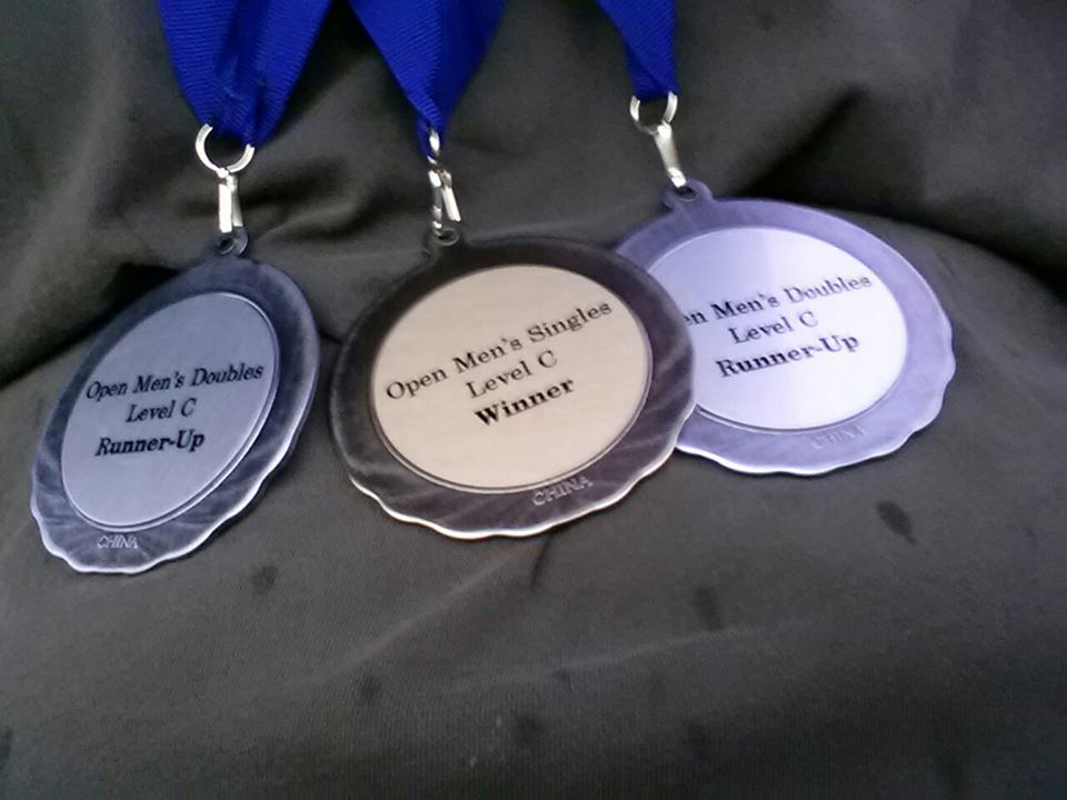 qgYG4PR - it may not be much, but today I won first place in mens singles level C at clearone orlando