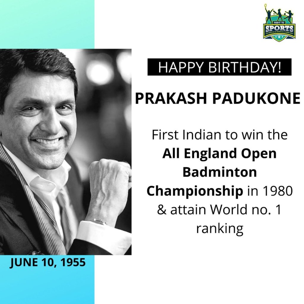 EaI  s8U4AEzOl0 - Happy Birthday to the former Indian shuttler, Mr. Prakash Padukone. Ranked World No. 1 in 1980 and became the first Indian to win the All England Open Badminton Championship. He was awarded the Arjuna Award in 1972 and the Padma Shri in 1982.prakashpadukone indianbadminton