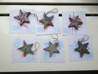 Kerstster hanger met kerstkaart_blog badschuim.eu