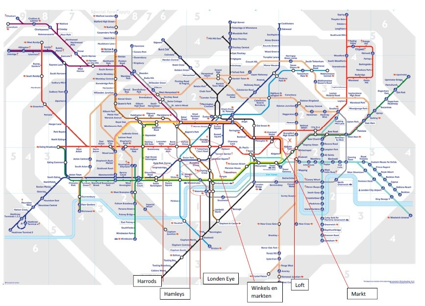 Weekend Londen tube map_blog badschuim.eu