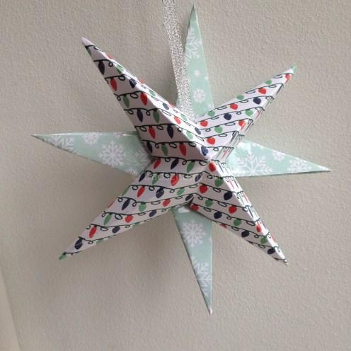 Kerstster vouwen van papier