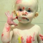 Badschuim maken met vingerverf Hema I creatief Lifestyle blog Badschuim