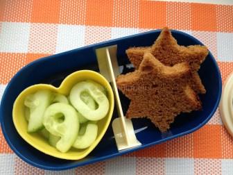 lunchbox ideeën komkommer cijfers