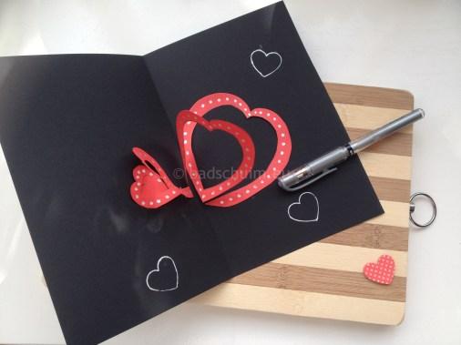 kaartje met hart zelf maken