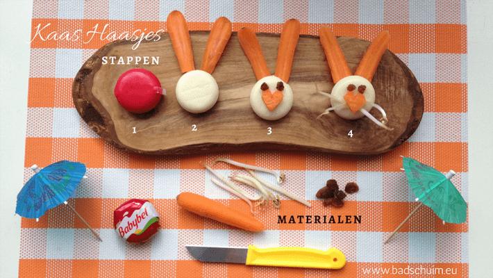 Kaas Haasjes voor Pasen - DIY met babybell kaasjes I Creatief Lifestyle blog badschuim