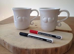 Versier je eigen mok met porseleinstift - dit heb je nodig I Creatief lifestyle blog Badschuim