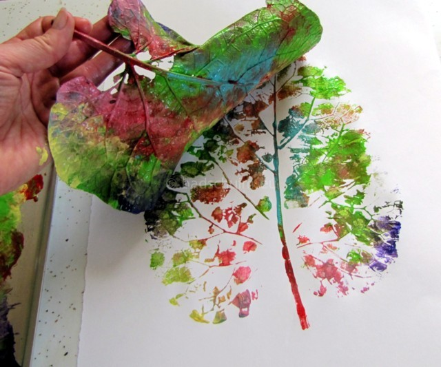 herfst knutselideeen bladeren bestempelen 01 I creatief lifestyle blog Badschuim