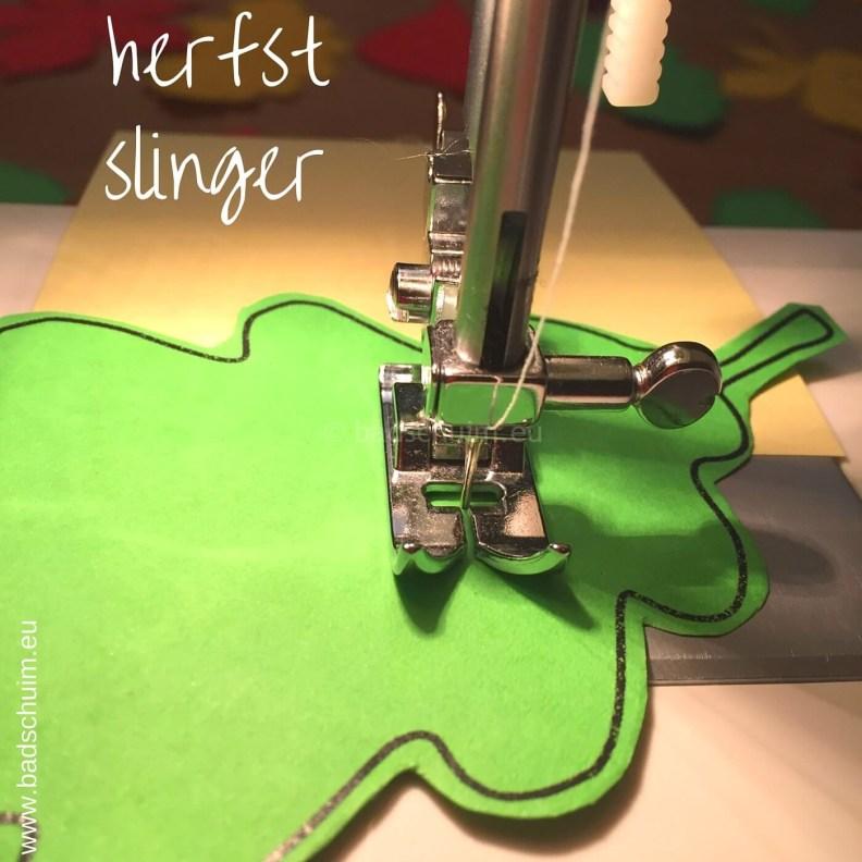 Herfstslinger maken met papier I stap 0 I gemaakt door het creatief lifestyle blog Badschuim