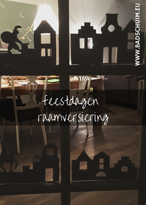 Raamversiering feestdagen I DIY stappenplan I gemaakt door creatief lifestyle blog www.badschuim.eu