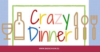 Crazy Dinner menu - gemaakt door het creatief lifestyle blog www.badschuim.eu
