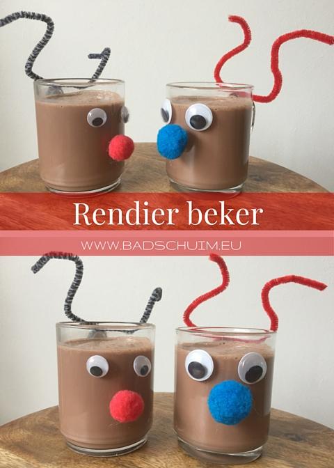 Maak je kids happy met een zelfgemaakte rendier beker. Dat doe je in 1-2-3 stappen en je bent klaar, chocolademelk er in en genieten maar!