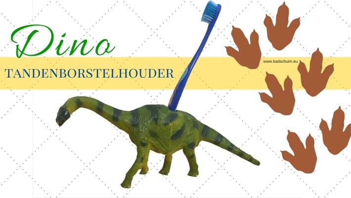 Dino tandenbostelhouder - gemaakt door het creatief lifestyle blog www.badschuim.eu