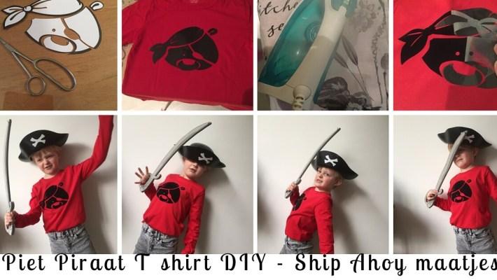 Maak je eigen Piet Piraat T shirt van strijkvelours. Met dit DIY foto stappenplan en silhouette van Piet Piraat heb jij het ook zo voor je kind gemaakt! Schip Ahoy Maatjes!