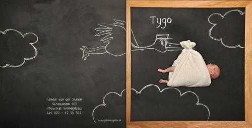 Geboortepost_collectie cute moments_krijtbord geboortekaartjes