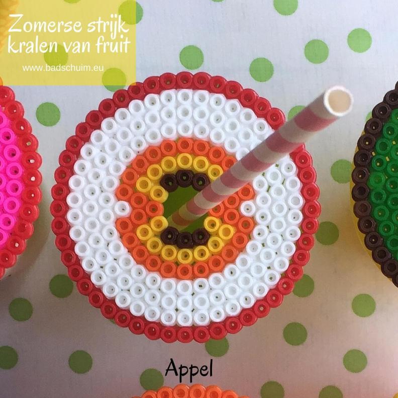 Strijkkralen fruit, appel, strijkkralen patroon,