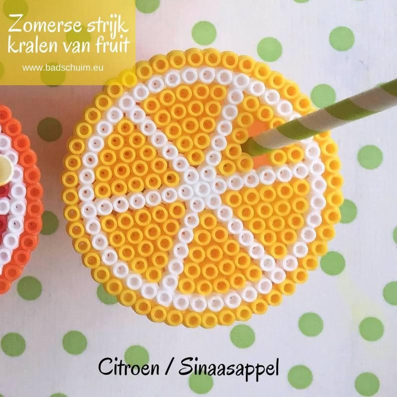 Strijkkralen fruit, sinaasappel, limoen, cirtoen, strijkkralen patroon,