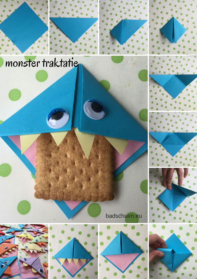 Monster traktatie, monsters trakteren, koekiemonster traktatie