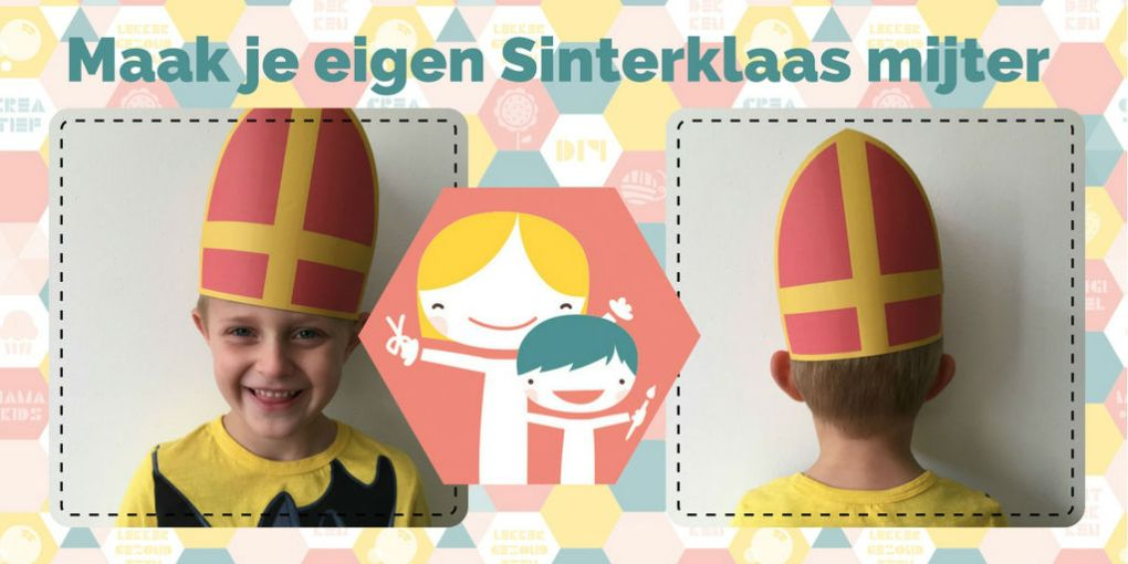 Sinterklaas mijter maken – knutsel idee voor Sinterklaas