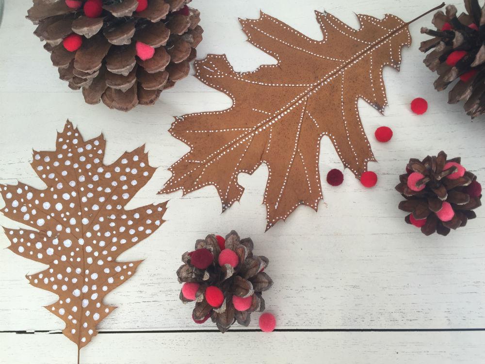 herfstbladeren verven, herfstbladeren versieren, herfst decoratie tips