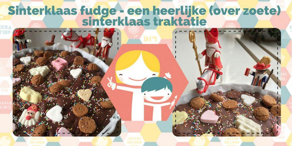 Sinterklaas fudge – een heerlijke (over zoete) sinterklaas traktatie