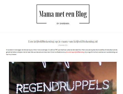 In de media webshop krijtstifttekening Mama met een blog - 2016-11-14