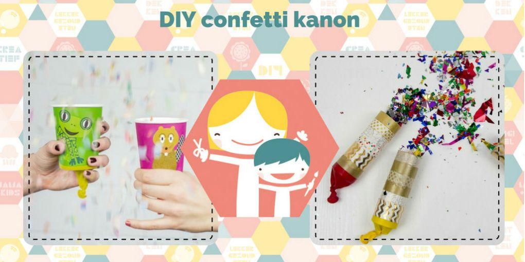 DIY confetti kanon – de 3 leukste carnavals DIY's
