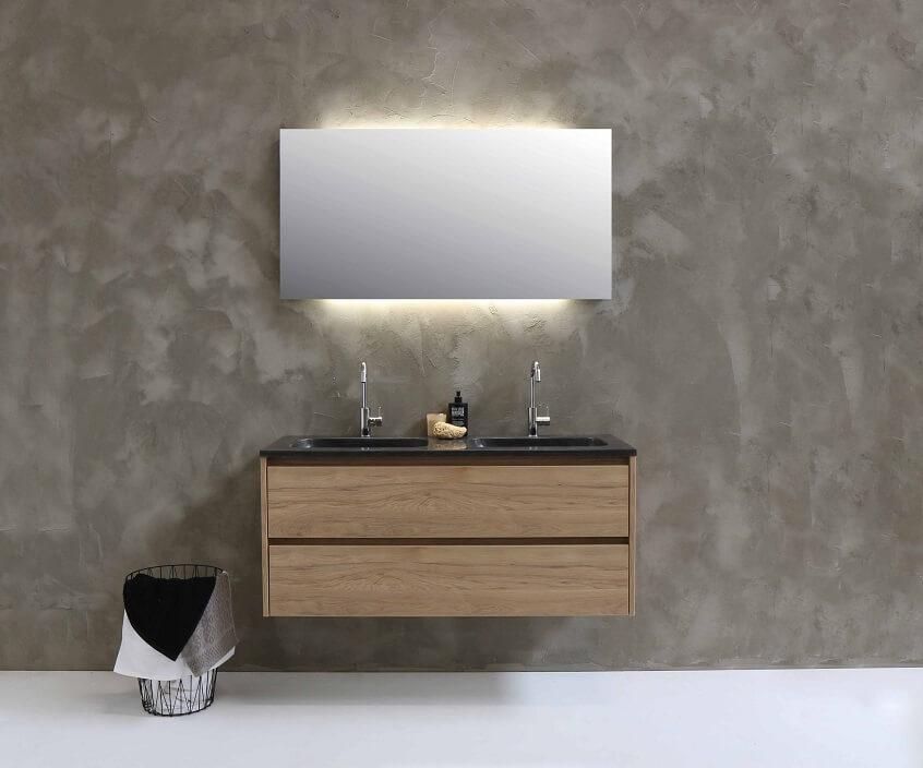 Basisspiegel met verlichting
