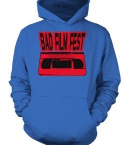 Bad Film Fest VHS – Red, Black & Blue (t-shirt or sweatshirt)