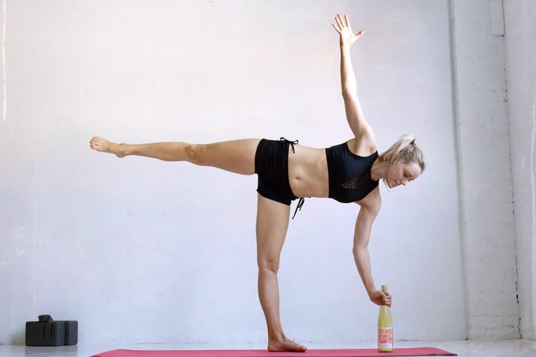 ardha chandrasanaor half moon yoga pose